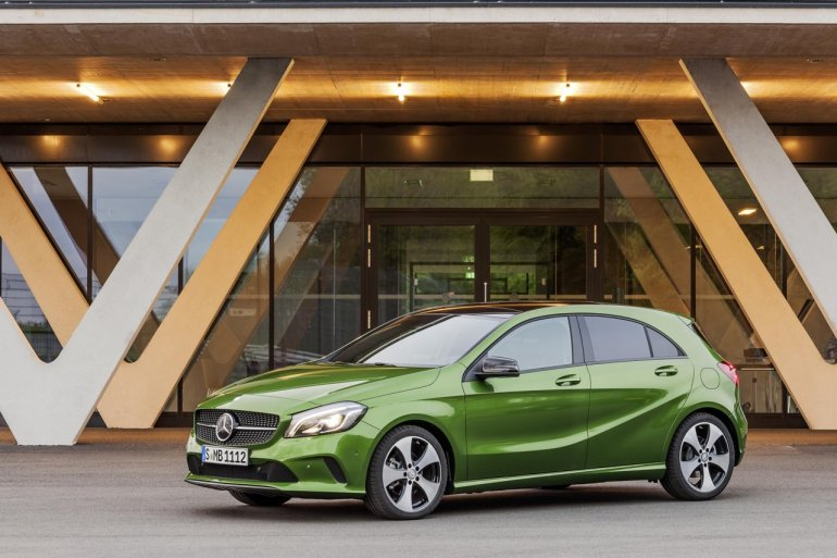 2016 Mercedes A Class Sport (facelift) front three quarter revealed press image