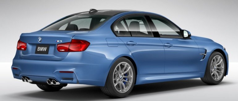 2016 BMW M3 facelift rear three quarter online configurator