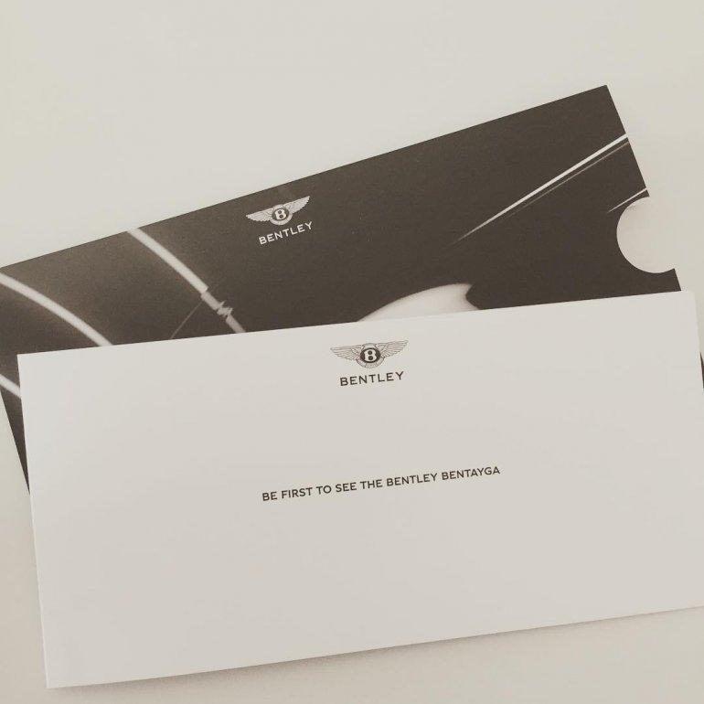 Bentley Bentayga invite