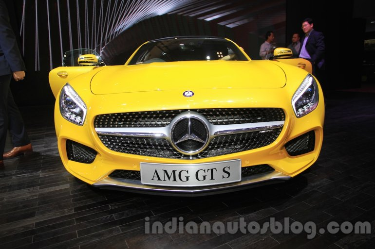 Mercedes AMG GT S front at the Gaikindo Indonesia International Auto Show 2015