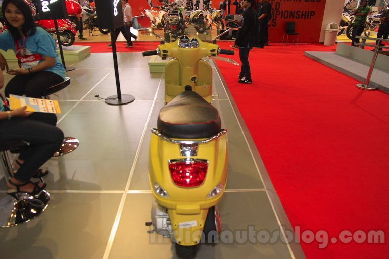 Vespa S 125 rear at the Indonesia International Motor Show 2015