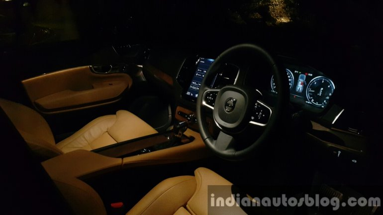2015 Volvo XC90 interior dark with ambient lighting review