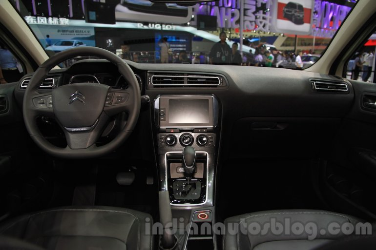 Citroen C4 Sedan dashboard at the 2015 Chengdu Motor Show