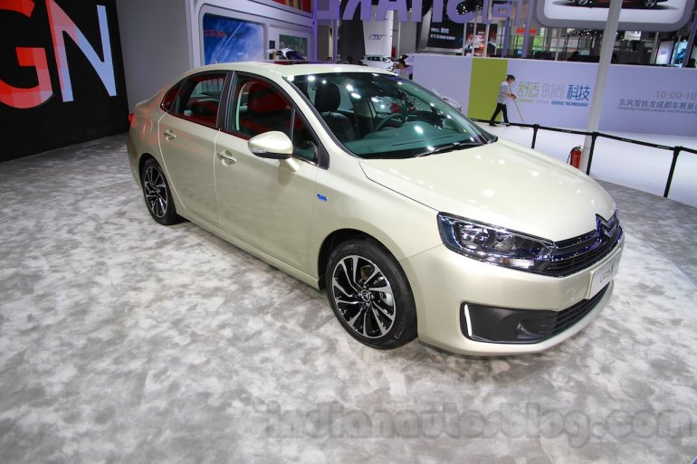 Citroen C4 Sedan front quarter at the 2015 Chengdu Motor Show