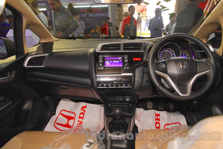 Honda Jazz dashboard touchscreen AVN at Nepal Auto Show 2015