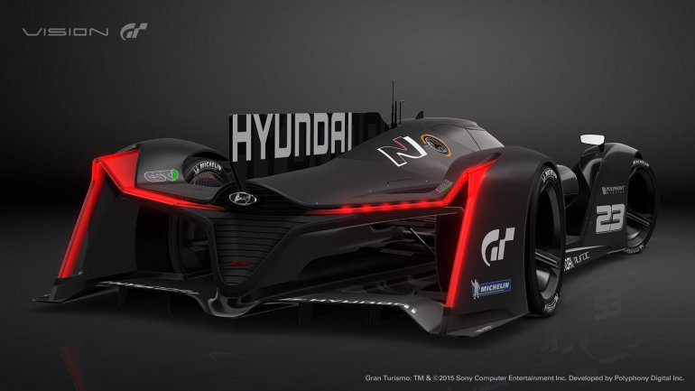 Hyundai N 2025 Vision GT rear quarter unvieled at the 2015 Frankfurt Motor Show