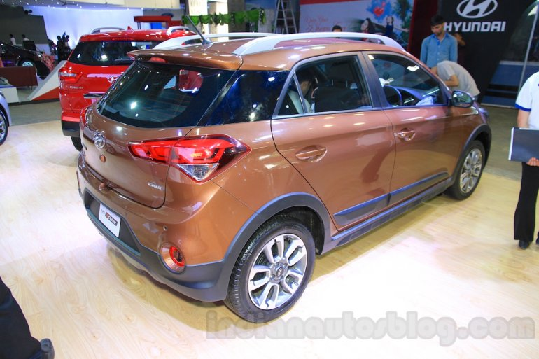 Hyundai i20 Active rear three quarter right at Nepal Auto Show 2015