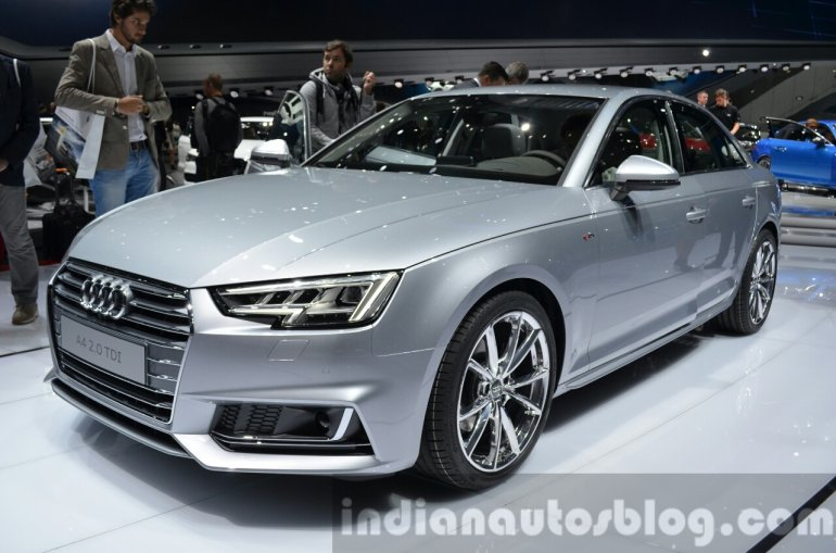 India-bound 2016 Audi A4 front three quarter at the IAA 2015