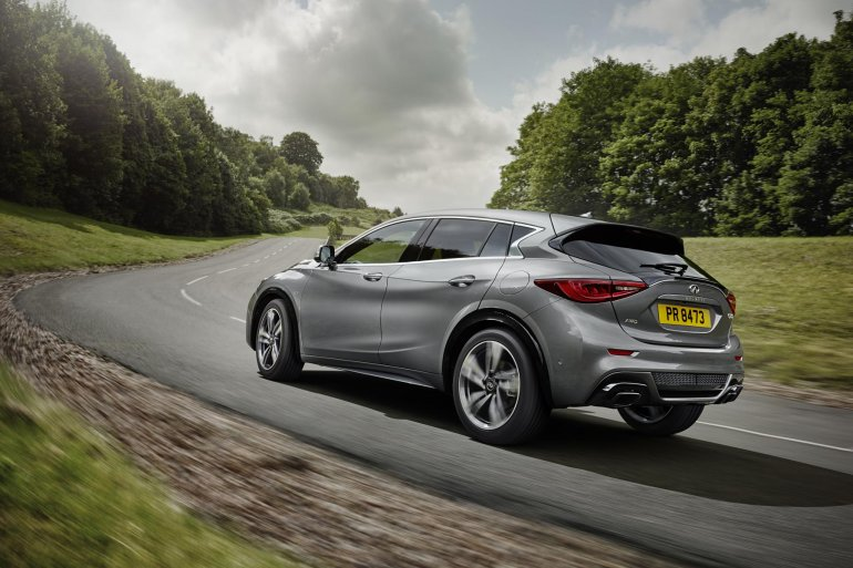 Infiniti Q30 rear three quarters left official image