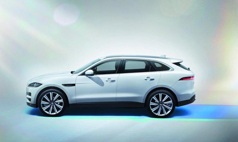 Jaguar F-Pace side profile press image