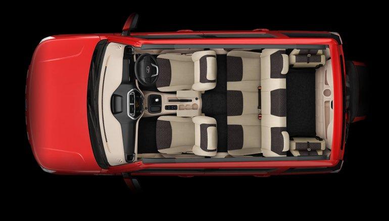 Mahindra TUV300 seating capacity website image