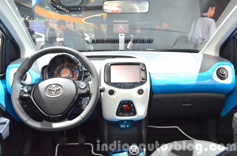Toyota Aygo x-clusiv special edition interior at the IAA 2015