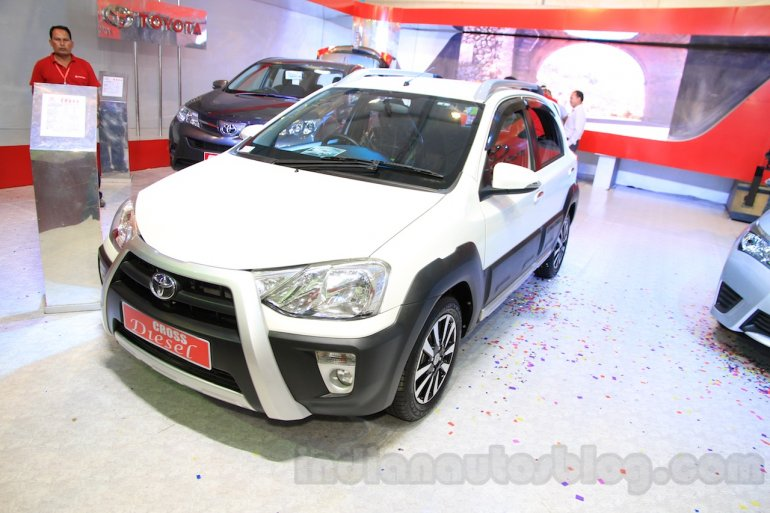 Toyota Etios Cross Diesel front three quarters right at the Nepal Auto Show 2015