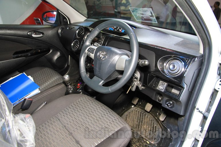 Toyota Etios Cross Diesel interior at the Nepal Auto Show 2015