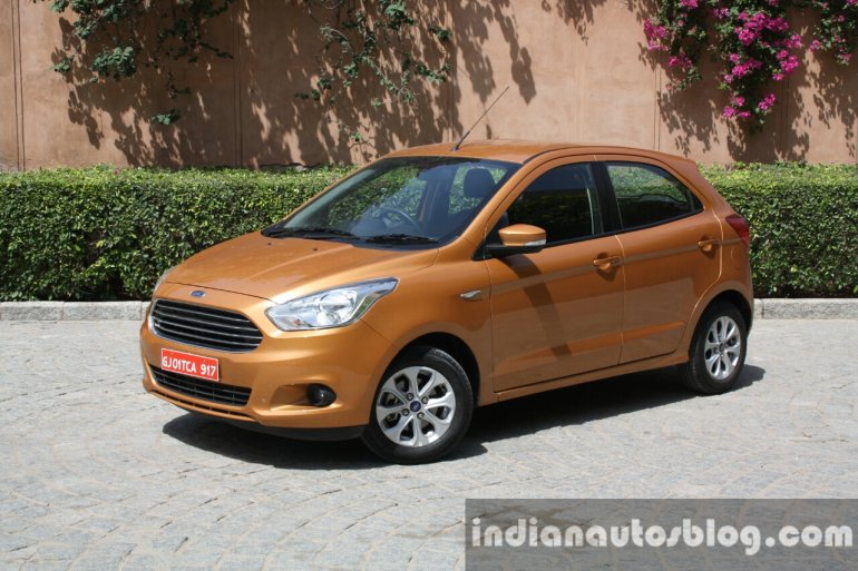 2015 Ford Figo front three quarter first drive review