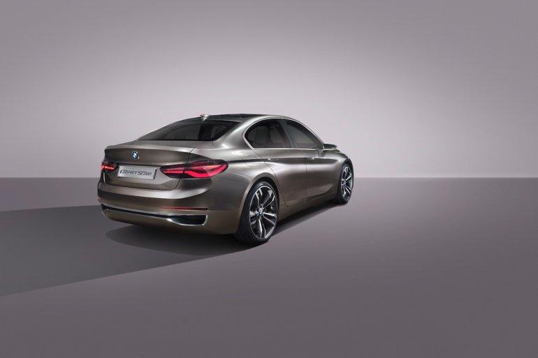 BMW Compact Sedan Concept rear three quarters press shots