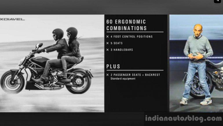 Ducati XDiavel pillion seat EICMA 2015