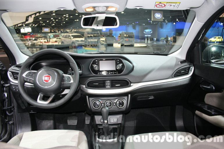 Fiat Tipo dashboard at the 2015 Dubai Motor Show