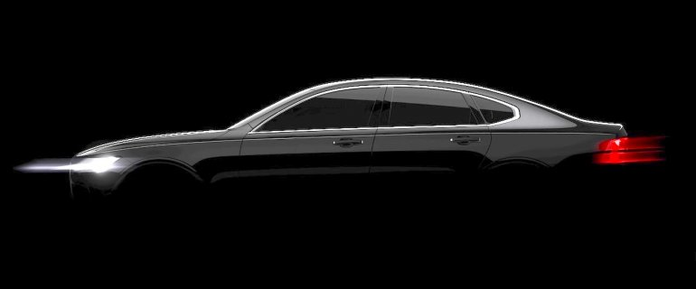 Volvo S90 side teased for the first time