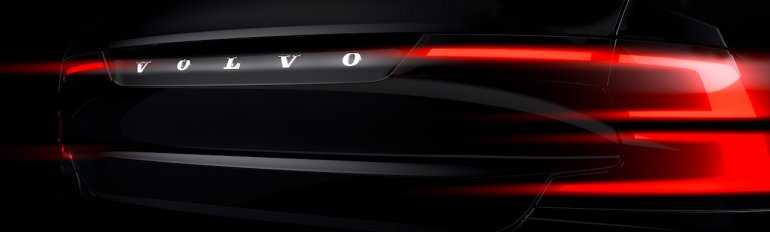Volvo S90 teased taillight for the first time