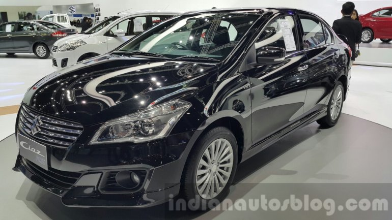 Suzuki Ciaz RS front quarter at 2015 Thailand Motor Expo