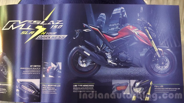 Yamaha M-Slaz brochure features unveiled at 2015 Thailand Motor Expo