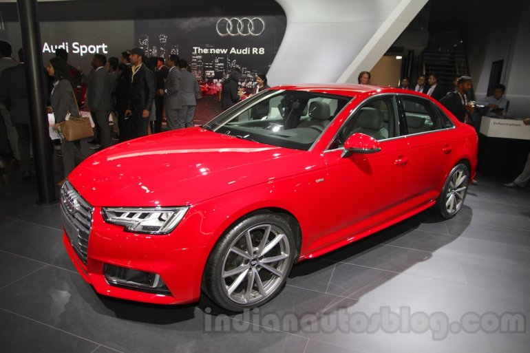 2016 Audi A4 front three quarters at Auto Expo 2016