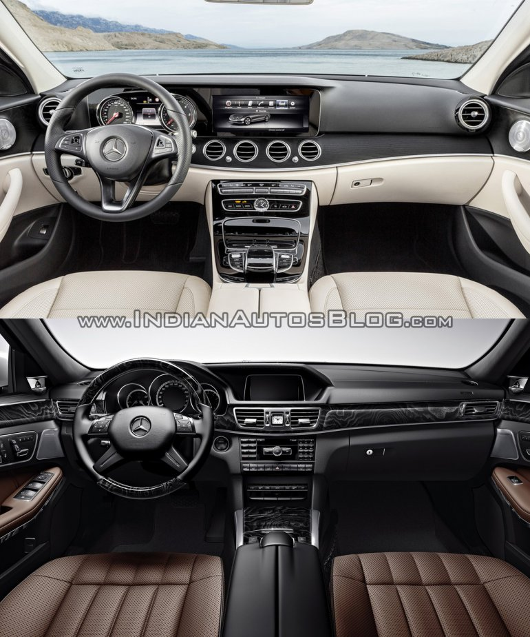 Mercedes E Class (W213) vs Mercedes E Class (W212) interior Old vs New