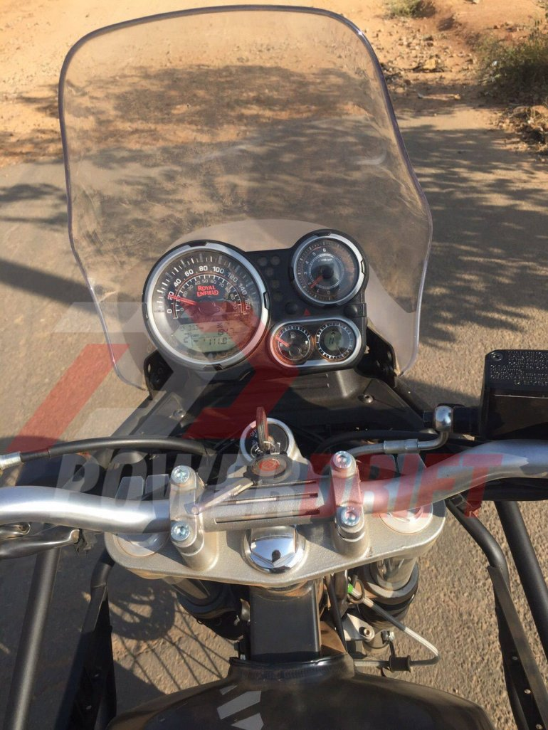 Royal Enfield Himalayan instrument cluster spied undisguised