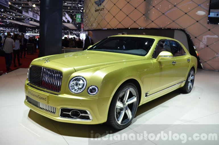 2016 Bentley Mulsanne Speed (facelift) front quarter at the 2016 Geneva Motor Show Live
