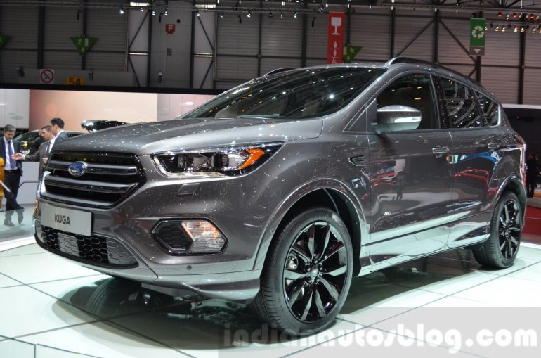 2016 Ford Kuga (facelift) front cabin at the 2016 Geneva Motor Show Live