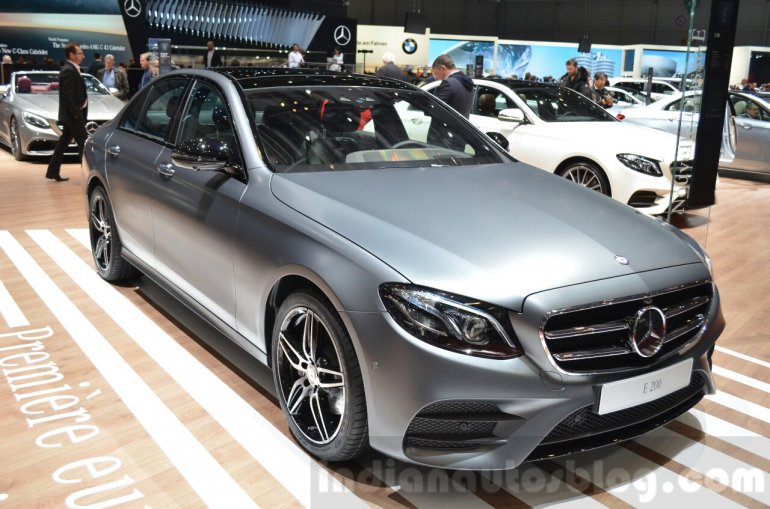 2016 Mercedes E Class (W213) front three quarter at the Geneva Motor Show Live