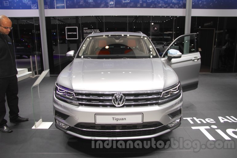 2016 VW Tiguan front at the Auto Expo 2016