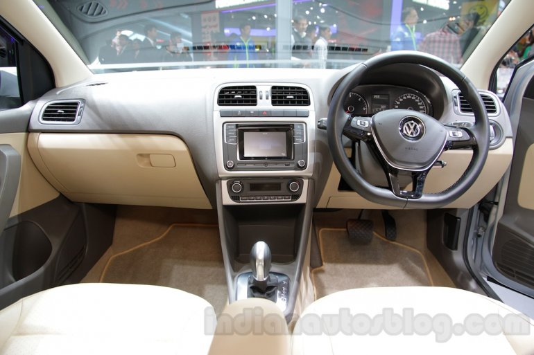 2016 VW Vento dashboard at the Auto Expo 2016