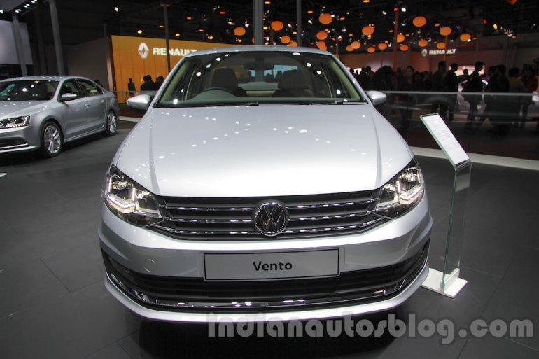 2016 VW Vento front at the Auto Expo 2016