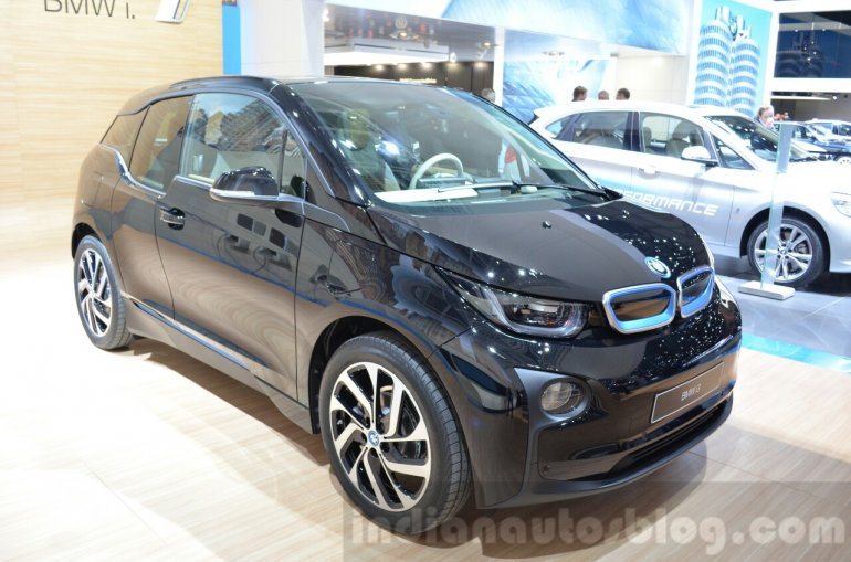 BMW i3 inspired by MR PORTER front quarter at the Geneva Motor Show Live