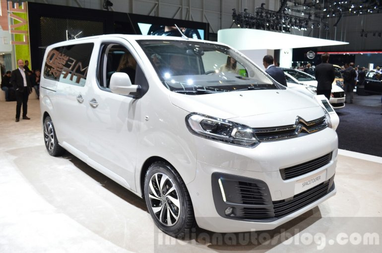 Citroen SpaceTourer front three quarter at the 2016 Geneva Motor Show Live