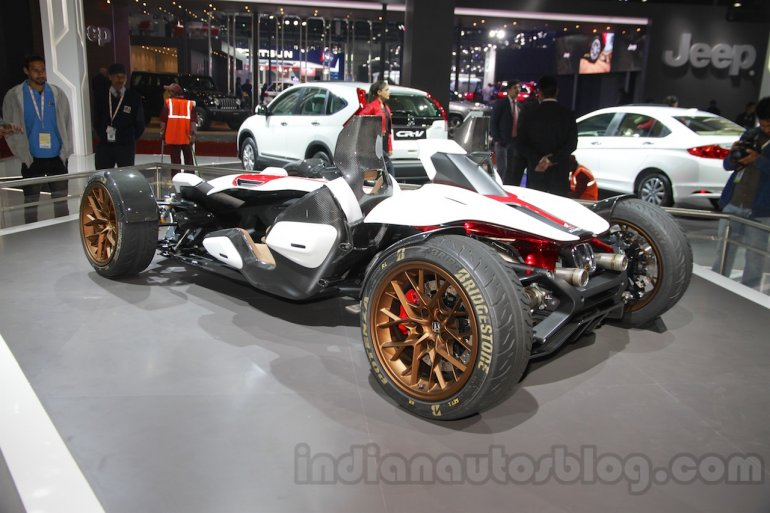 Honda Project 2&4 concept rear three quarters at Auto Expo 2016