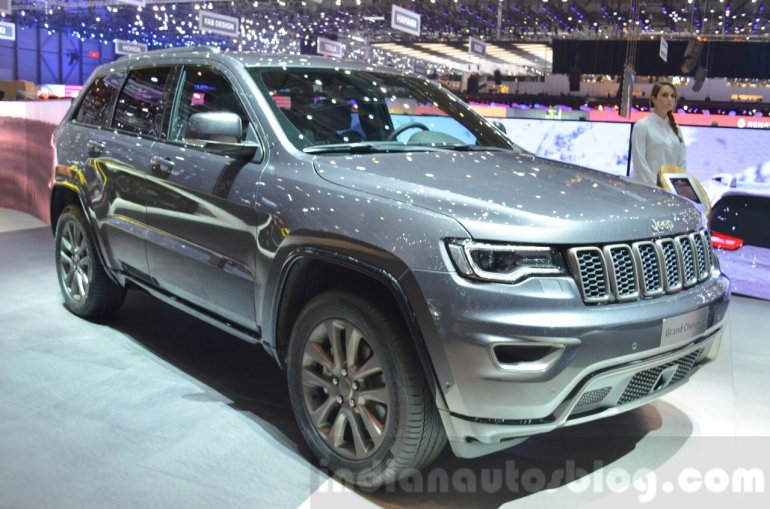Jeep Grand Cherokee 75th Anniversary edition front three quarter at the 2016 Geneva Motor Show