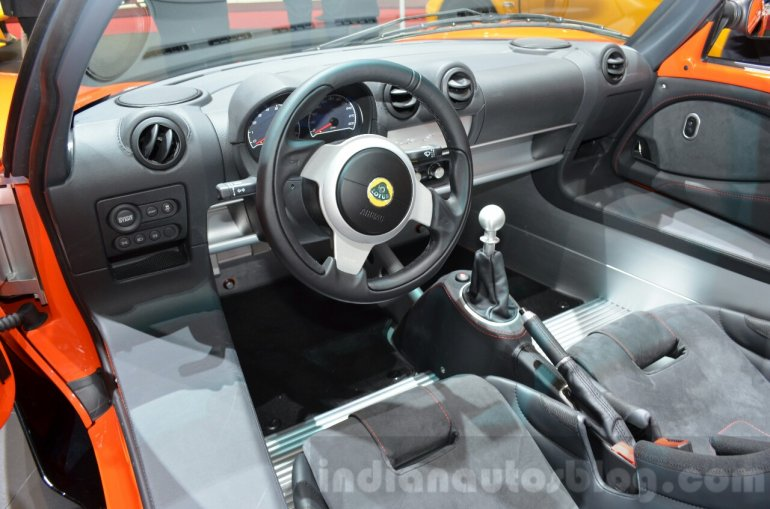 Lotus Elise Cup 250 interior at the 2016 Geneva Motor Show Live