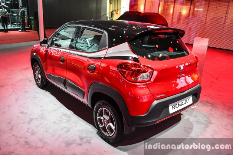 Renault Kwid custom rear three quarters left at Auto Expo 2016