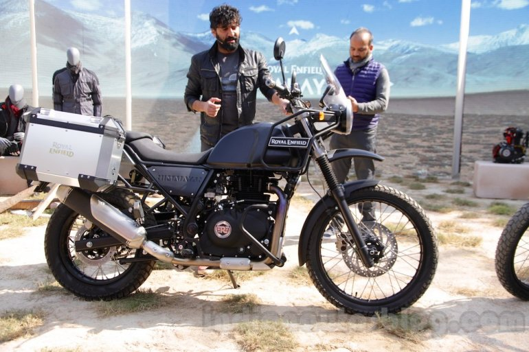 Royal Enfield Himalayan black side unveiled