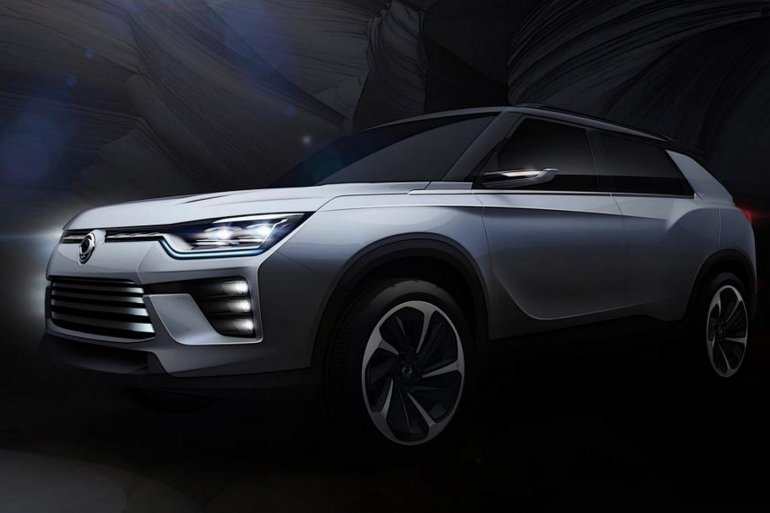 Ssangyong SIV-2 concept front three quarter teased