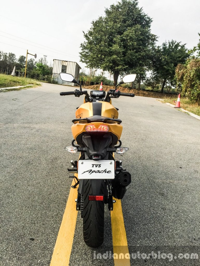TVS Apache 200 rear review