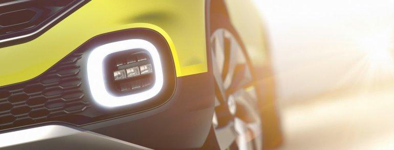 VW T-Cross concept fog light teaser