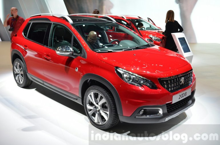 2016 Peugeot 2008 (facelift) front three quarter at the Geneva Motor Show Live