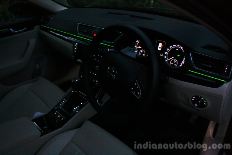 2016 Skoda Superb Laurin & Klement interior lighting First Drive Review