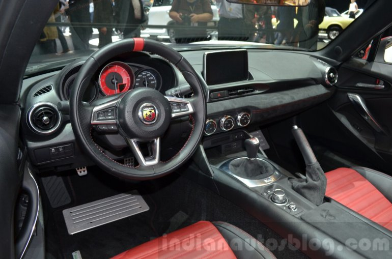 Abarth 124 Spider interior at the 2016 Geneva Motor Show Live