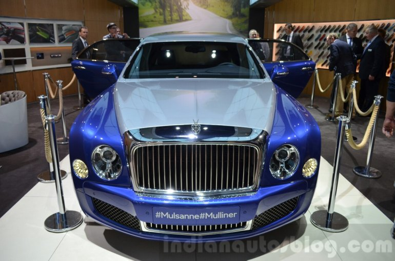 Bentley Mulsanne Grand Limousine by Mulliner front at 2016 Geneva Motor Show