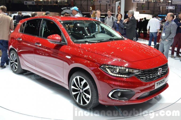 Fiat Tipo hatchback front three quarter at the Geneva Motor Show Live